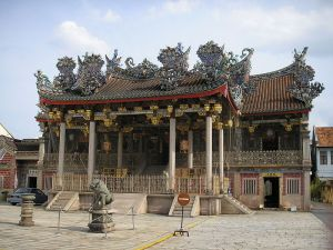 the main temple in the Khoo Kongsi complex