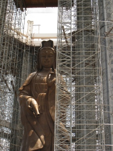 the 30 meter bronze statue of the goddess of mercy