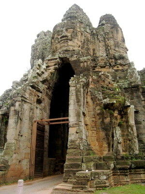 the victory gate in Angkor Thom