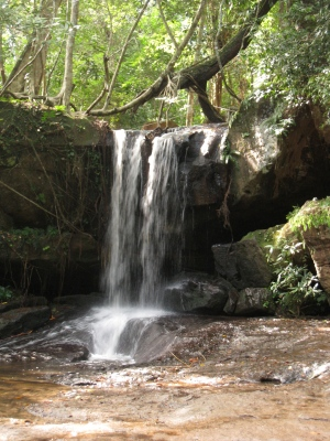the waterfall near Kbal Spean