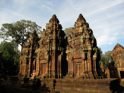 the three small towers of Banteay Srei