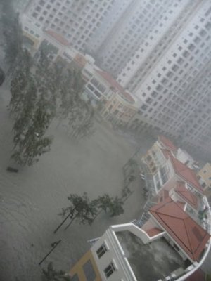 the Fort in Taguig City partially submerged