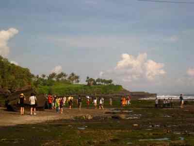 wonderful scenery in Tanah Lot