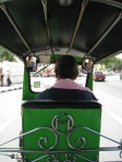 trying out a tuktuk - Bangkok style!!